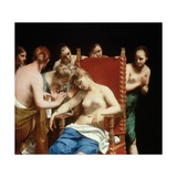 The Death of Cleopatra Giclee Print by Guido Cagnacci
