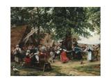The Village Fete Giclée-Druck von Jean Charles Meissonier