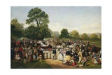 Hyde Park, London, England, Entrance of Queen Victoria Giclee Print by Thomas Musgrave Joy
