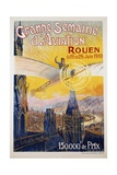 Grande Semaine D'Aviation Poster Giclee Print by Charles Rambert