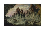 Shipwrecked Boats Battling the Storm Giclee Print by Gustave Doré