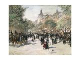 Boulevard Haussmann, Paris Giclee Print by Jean Francois Raffaelli