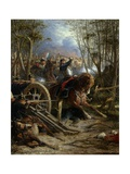 The Charge of the French Cuirassiers at Reichshof Giclee Print by Adolphe Yvon