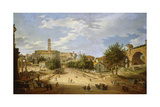 The Roman Forum and the Campidoglio Seen from the Arch of Constantine Giclee Print by Giovanni Paolo Panini
