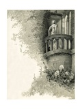 Illustration of Juliet on Her Balcony Giclee Print by Oreste Cortazzo