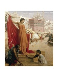 Bathing in the Ganges, India Giclee Print by Valentine Cameron Prinsep