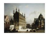 The Town Hall, Louvain, Belgium Giclee Print by Michael Neher
