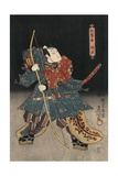 An Actor in the Role of Saitogo Kunitake Giclee Print by Utagawa Kunisada