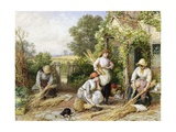 The Return of the Gleaners Giclee Print by Myles Birket Foster