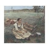 Hay Making Giclee Print by Jules Bastien-Lepage