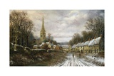 Kings Sutton, Northhamptonshire Giclee Print by Charles Leaver