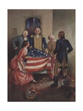 The First American Flag Giclee Print by Robert G. Jones