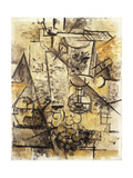 The Glass of Absinth Stampa giclée di Georges Braque