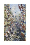 The Rue Montorgueil in Paris, Celebration of June 30, 1878 Giclee Print by Claude Monet