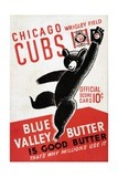 1939 Chicago Cubs Baseball Scorecard Giclee Print