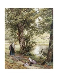 Gathering Fuel Giclee Print by Myles Birket Foster