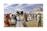 A Stroll at the Seaside, Ostend Giclee Print by Carl Hermann Kuechler
