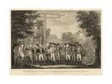 British Surrendering their Arms to General Washington after their Defeat at Yorktown Giclee Print