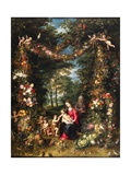 Garland of Flowers with Virgin and Child Giclee Print by  Jan Brueghel and Hendrik van Balen