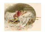 Illustration of Romeo Mourning Juliet Giclee Print by Ludovico Marchetti
