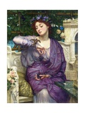 Lesbia and Her Sparrow Impression giclée par Edward John Poynter