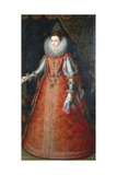 Portrait of the Infanta Isabella Eugenia, Standing Full-Length Wearing a Brocade Dress Giclee Print by Alonso Sanchez Coello