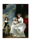 Henrietta, Countess of Warwick, and Her Children Giclee Print by George Romney