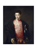 Portrait of Cardinal Ranuccio Farnese as a Boy Giclée-tryk af Titian (Tiziano Vecelli)