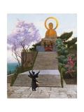 Japanese Emploring a Deity Giclee Print by Jean-Leon Gerome