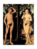 Adam and Eve in the Garden of Eden Giclee Print by Lucas Cranach the Younger
