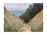 Road at La Cavée, Pourville Giclee Print by Claude Monet