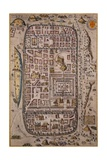 Map of Jerusalem and Surrounding Area Engraved Giclee Print by Joris Hoefnagel