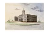 City Hall, New York Giclee Print by Alexander Jackson Davis