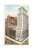 N.Y. Stock Exchange, New York City Postcard Giclee Print by Irving Underhill