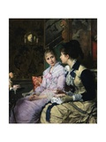 Ladies Taking Tea Giclee Print by Josef Scheurenberg