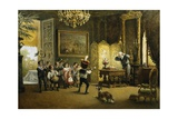 The Brass Band Giclee Print by Cesare Felix Georges Dell'Acqua