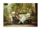 A Willing Helper Giclee Print by Mihaly Munkacsy