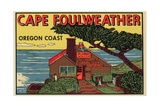 Cape Foulweather Travel Decal Giclee Print