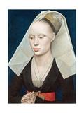 Porträtt av en dam Gicléetryck av Rogier van der Weyden