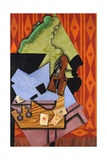 Violin and Playing Cards on a Table Giclee Print by Juan Gris