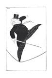 Caricature of Statesman David Lloyd George Walking a Tightrope Giclee Print