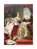 Painting of Queen Victoria in Her State Robes Giclee Print by  Winterhalter