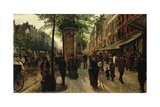Boulevard Des Italiens Giclee Print by Tito Lessi