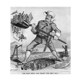The Man Who Can Make the Dirt Fly Cartoon Giclee Print by  Dalrymple