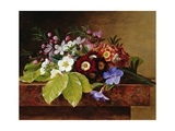A Bouquet of Apple and Cherry Blossoms, and Primula Giclee Print by Johan Laurentz Jensen