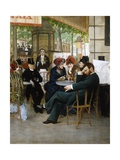 At the Cafe De La Paix Giclee Print by Georges Croegaert