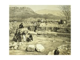 Lithograph of the Excavation of the Temple of Mars Giclee Print by Thomas Picken