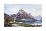 Lyfter from Dosen on the Lyfter Fjord, Norway Giclee Print by Charles Pettitt