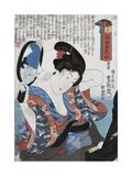 White Giclee Print by Utagawa Toyokuni