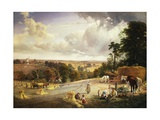 A Summer's Afternoon, Near Mereworth, Kent Giclee Print by George Vicat Cole